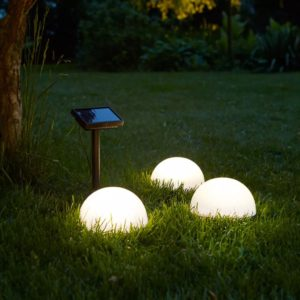 "Luxformi päikesetoitel LED-aialambid ""Clervaux"" 3 tk"