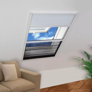 Plissee putukavõrk 160 x 110 cm aknakattega