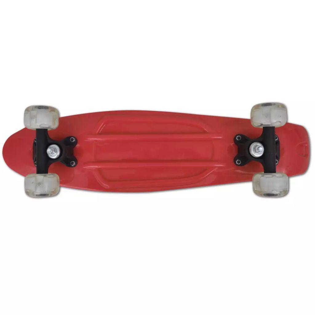 138d8fb326b Punane retro rula LED tuledega ratastel - JUNIIK.EE