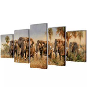 Seinamaalikomplekt elevantidega