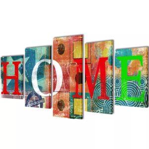 Seinamaalikomplekt lõuendil Home