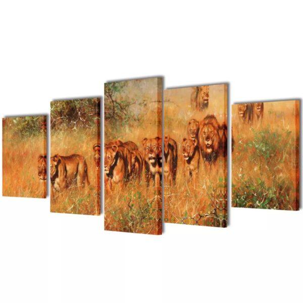 Seinamaalikomplekt lõvidega