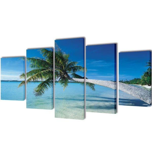 Seinamaalikomplekt rannaliiv ja palm