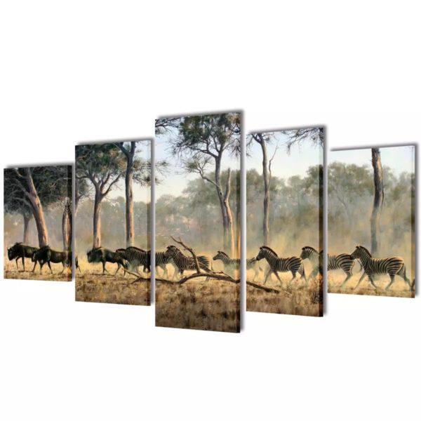 Seinamaalikomplekt sebradega