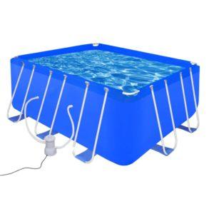 Terasraamiga bassein pumbaga 400 x 207 x 122 cm (90531 + 90561)
