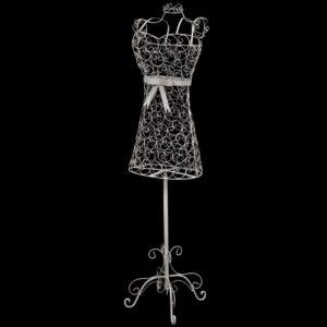 Vanaaegse stiiiga traadist kleit mannekeen