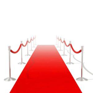VidaXL punane vaip 1 x 10 m eriti raske 400 g/m2