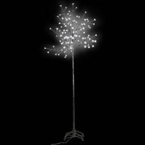 Vilkuv LED puu valge 210 cm