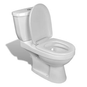 WC pott loputuskastiga valge