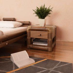 bambusest öökapp 45 x 45 x 40 cm