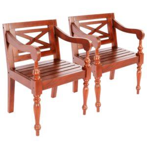 bataavia toolid 2 tk mahagonipuit