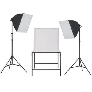 fotostuudio softboxiga valgustikomplekt pildistuslauaga