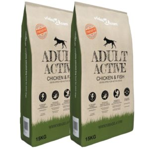 koerte kuivtoit Adult Active Chicken & Fish 2 tk