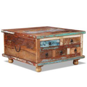 kohvilaud taastatud puidust 70 x 70 x 38 cm