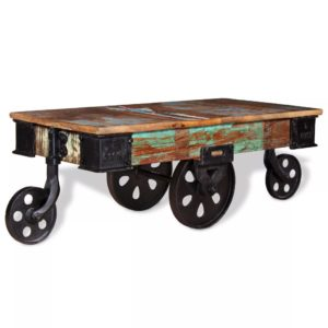 kohvilaud taastatud puidust 90 x 45 x 35 cm