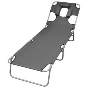 kokkupandav peatoe ja reguleeritava seljatoega lamamistool