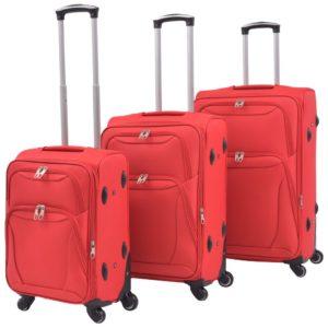 kolmeosaline pehme kattega kohvrite komplekt