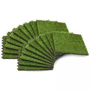 kunstmuruplaadid 20 tk 30 x 30 cm roheline
