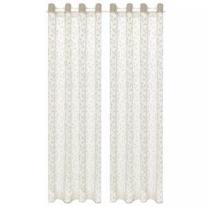 e74802cda53 lõimkootud kardinad 2 tk, 140 x 175 cm, lehed, kreemjas