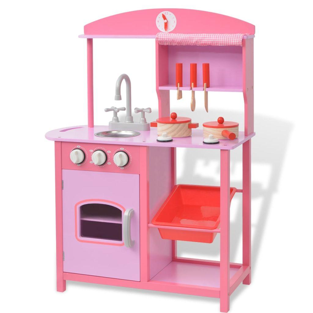 e405eeb04c7 mänguköök, puidust 60 x 27 x 83 cm roosa - JUNIIK.EE