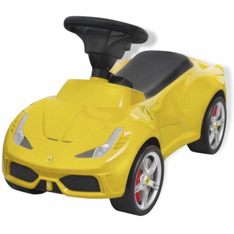 pealeistutav auto Ferrari 458 kollane
