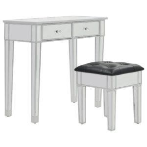 peegeldava pinnaga tualettlaud tooliga