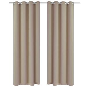 pimendavad kardinad 2 tk metallöösidega 135 x 175 cm