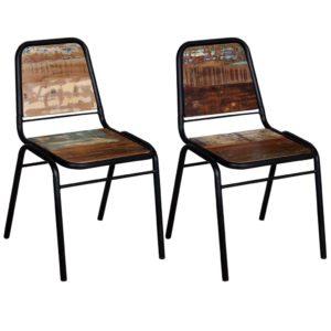 söögitoolid 2 tk taastatud puidust 44 x 59 x 89 cm
