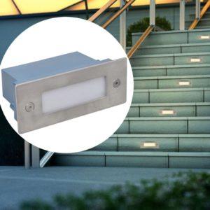 süvistatud LED trepivalgustid 6 tk 44 x 111 x 56 mm