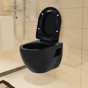 seinale kinnitatav must keraamiline tualettpott