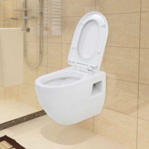 seinale kinnitatav valge keraamiline tualettpott