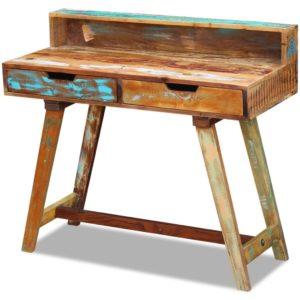 taaskasutatud puidust kirjutuslaud