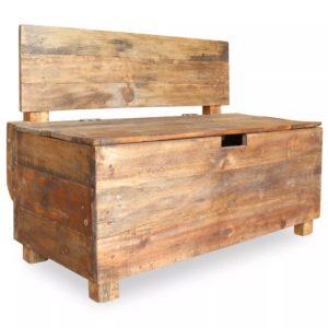 taaskasutatud puidust pink 86 x 40 x 60 cm