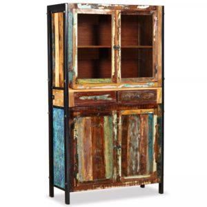 taaskasutatud puidust puhvetkapp 100 x 40 x 175 cm