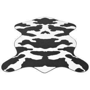 vaip 150 x 220 cm musta lehmamustriga