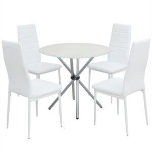 viieosaline söögilaua ja toolide komplekt