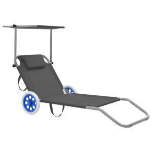 kokkupandav lamamistool katuse ja ratastega