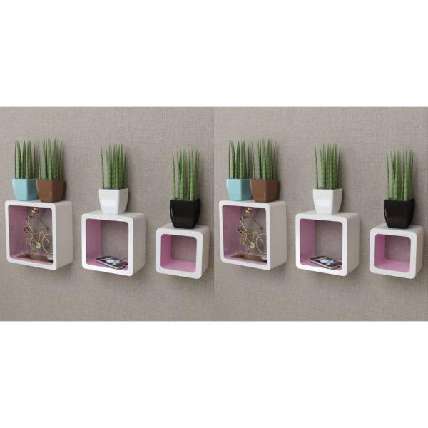 kuubikukujulised seinariiulid