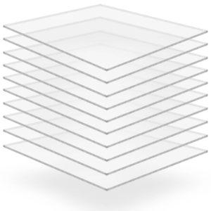 läbipaistev akrüülklaas 10 lehte 40 x 60 cm 2 mm