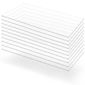 läbipaistev akrüülklaas 10 lehte 60 x 120 cm 2 mm