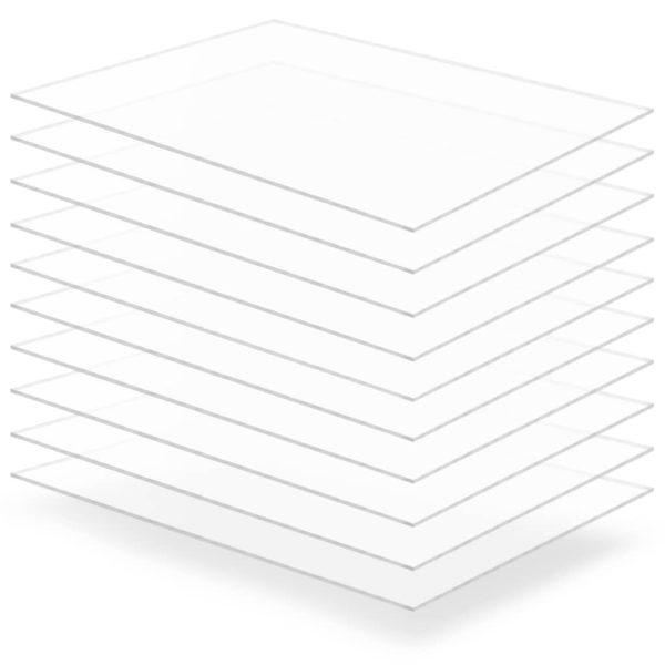 läbipaistev akrüülklaas 10 lehte 60 x 80 cm 3 mm