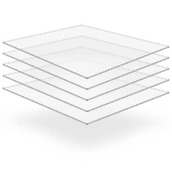 läbipaistev akrüülklaas 5 lehte 40 x 60 cm 2 mm