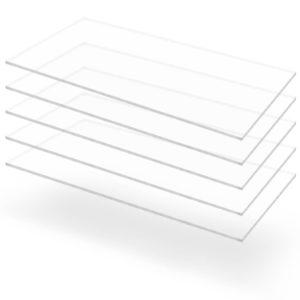 läbipaistev akrüülklaas 5 lehte 60 x 120 cm 3 mm