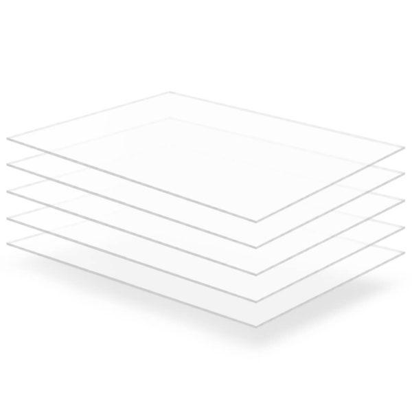 läbipaistev akrüülklaas 5 lehte 60 x 80 cm 3 mm
