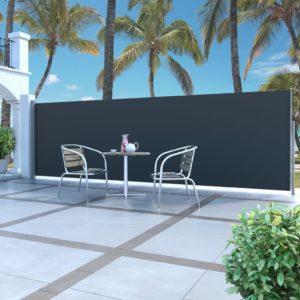 lahtitõmmatav külgsein 180 x 500 cm must