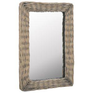 vitstest raamiga peegel 40 x 60 cm pruun