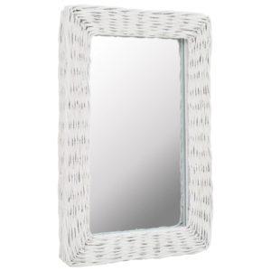 vitstest raamiga peegel 40 x 60 cm valge