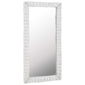 vitstest raamiga peegel 50 x 100 cm valge