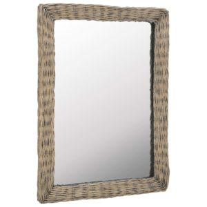 vitstest raamiga peegel 60 x 80 cm pruun