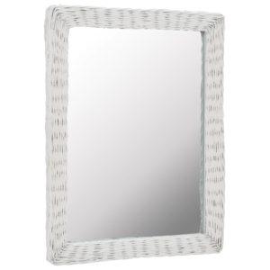 vitstest raamiga peegel 60 x 80 cm valge